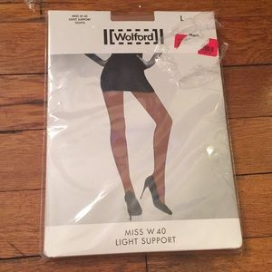 NWT Wolford Miss W 40 Light Support Tights